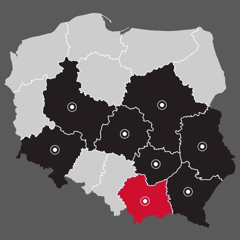 Mapa - LP Pompy ciepła Krakow | Flexipower Group