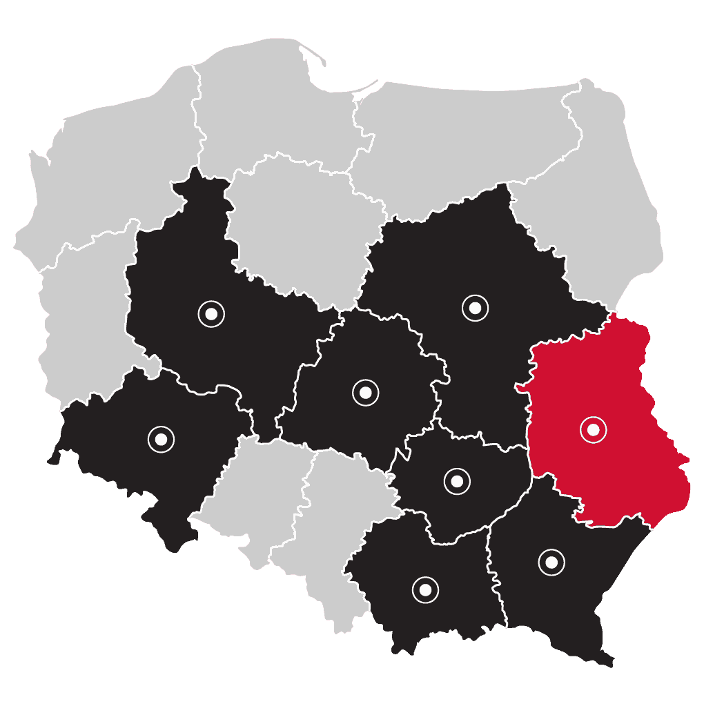Mapa - LP Pompy ciepła Lublin | Flexipower Group