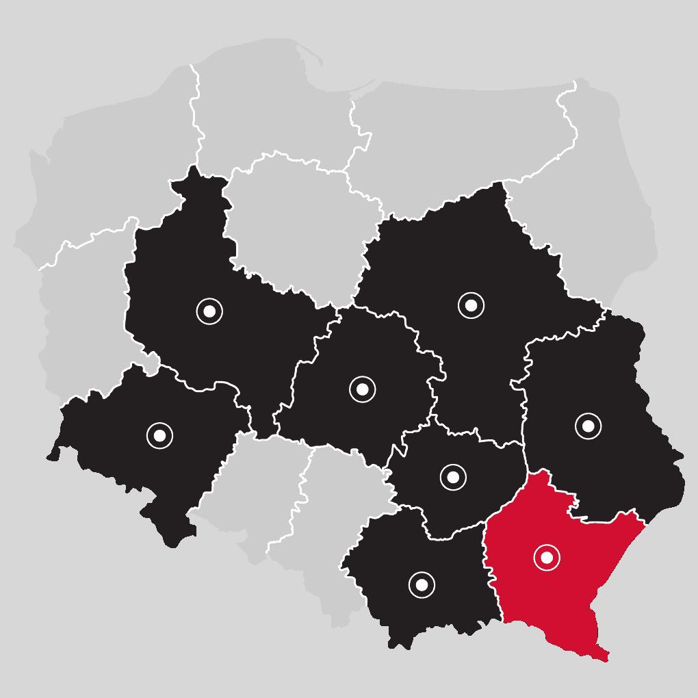 Mapa - LP Pompy ciepła Rzeszów | Flexipower Group