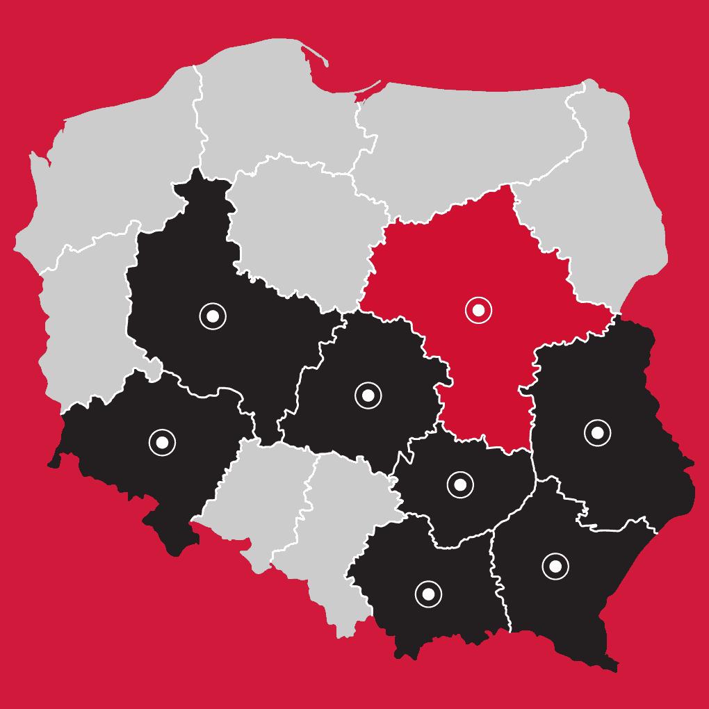 Mapa - LP Pompy ciepła Warszawa | Flexipower Group